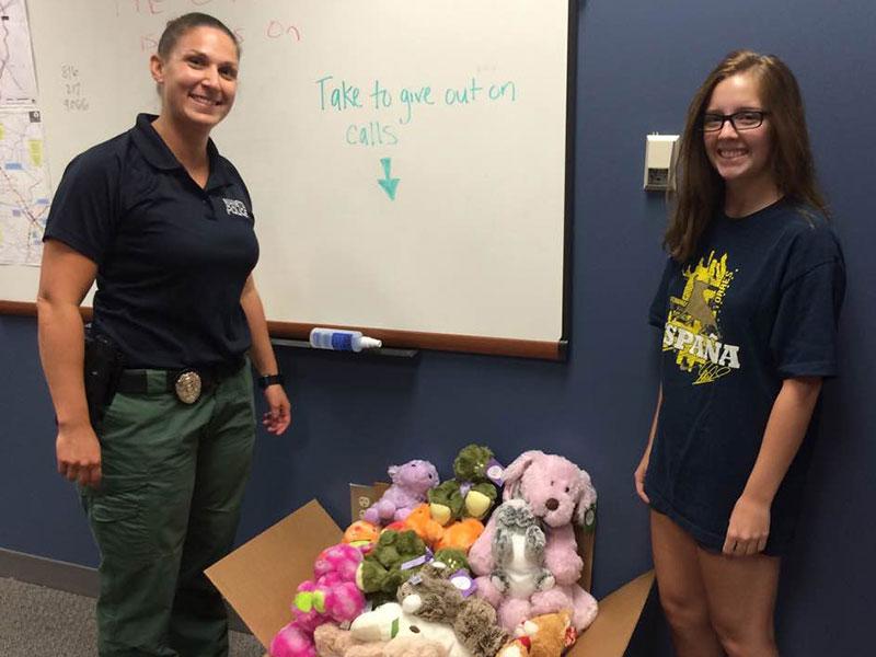 Marietta Police Department gets 100 animals